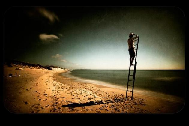 drabina nad morzem